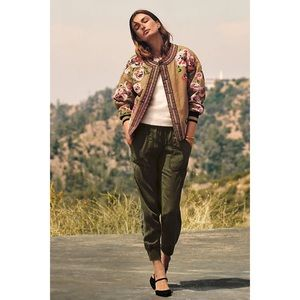 NWT Anthropologie Needlepoint Bomber Jacket